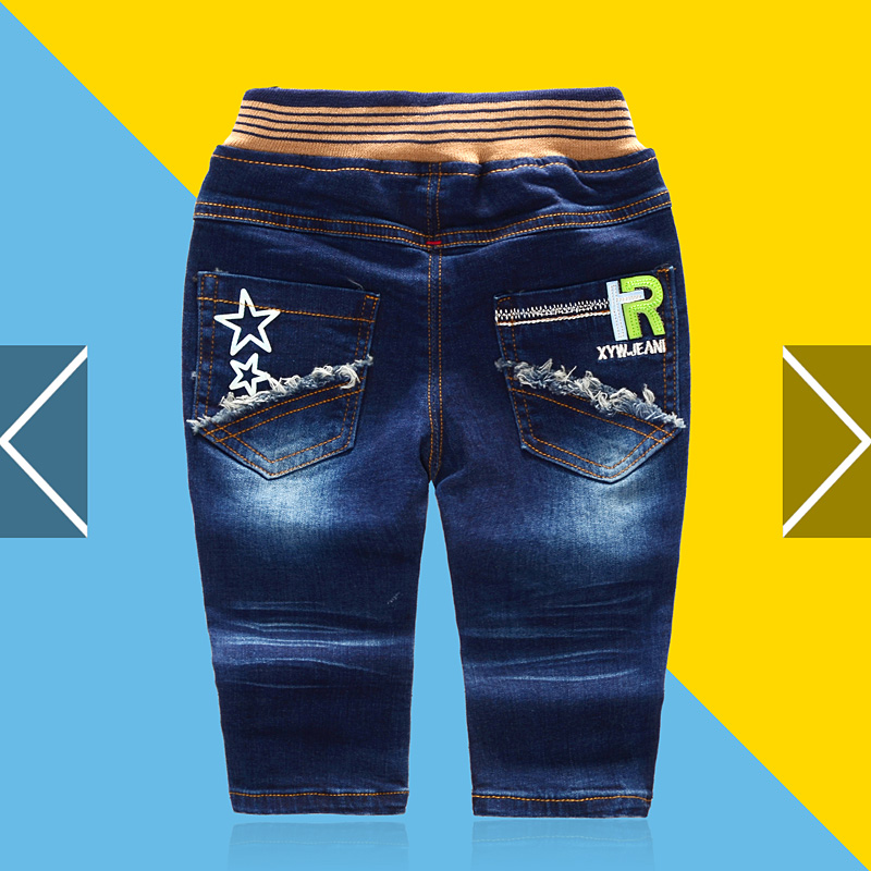 b438f9e66 Get Quotations · Spring baby pants baby trousers jeans male years tabaci can  open crotch trousers thick section of