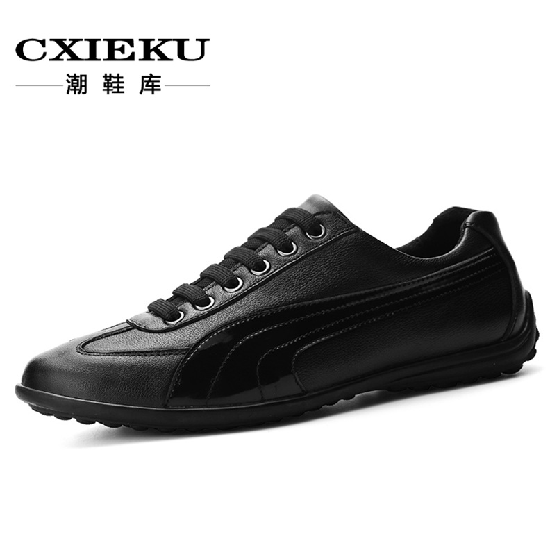 Spring leather men's shoes influx of men's casual shoes british style handmade leather lace casual shoes to help low shoes