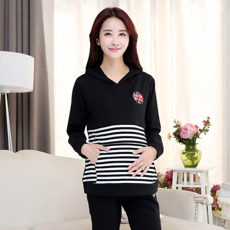 Spring month of service buru yi spring out clothes postpartum breastfeeding clothes 2016 spring and autumn home clothes suit breastfeeding clothes