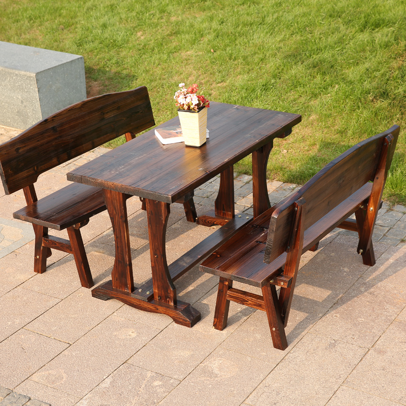 Springbok trees garden carbonized wood preservative wood bar and restaurant tables and chairs combination of outdoor leisure furniture outdoor tables and chairs
