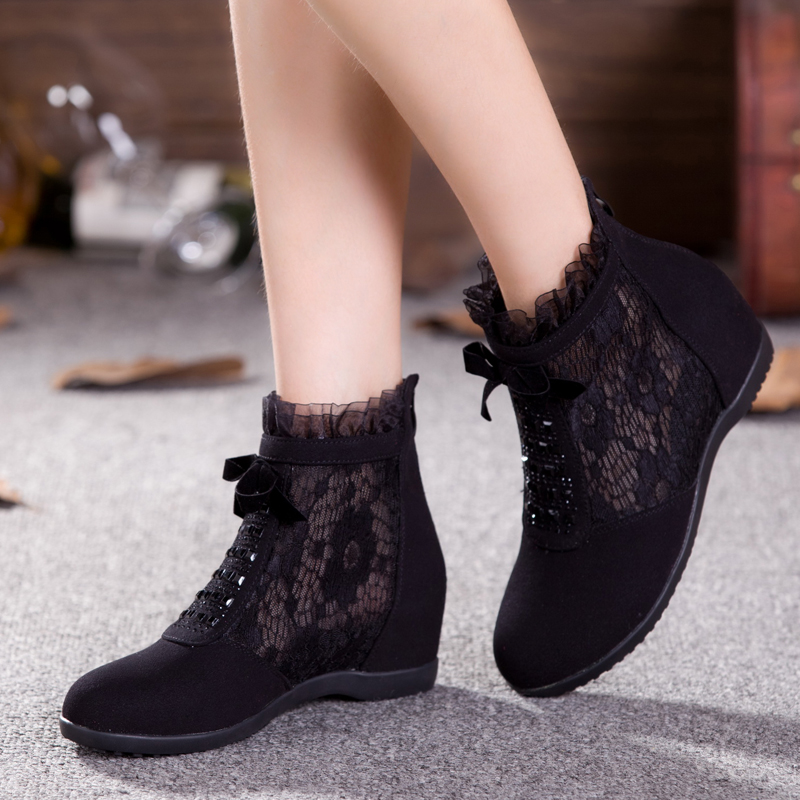 Square dance shoes women shoes modern shoes jazz dance shoes sandals summer mesh boots boots single boots spring breathable soft bottom dance shoes