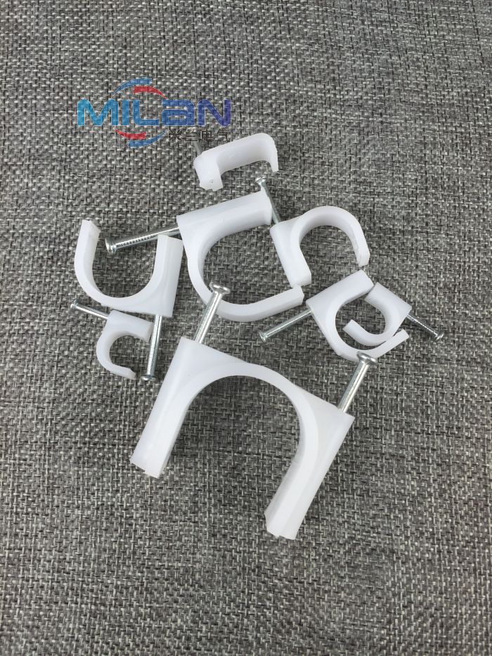 Square nail clips 8mm solid line card network trunking cable wire nails nail wall nail nail 10