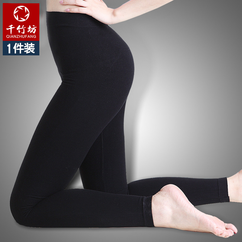 Square thousands of bamboo bamboo fiber body pants special thick section of female black socks bottoming socks autumn and winter was thin body
