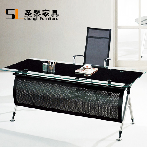 St. li office furniture herculite l black glass custom computer desk desk desk manager in charge of household 6626