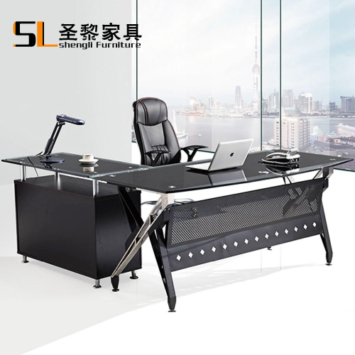 St. li office furniture minimalist modern glass desk computer desk office manager herculite paragraph customization 6602