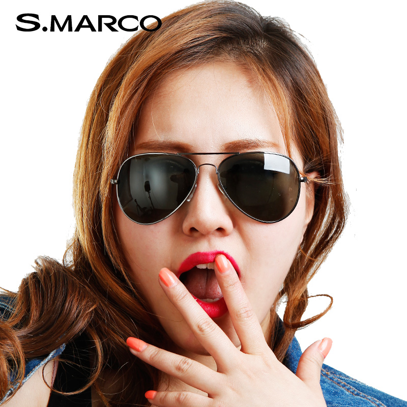 St. mark men sunglasses polarizer tide retro sunglasses yurt female driver drove myopia sunglasses 900