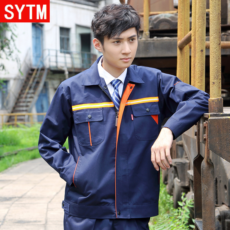 St. thailand and the united states according to printing work clothes suit protective clothing reflective overalls builders overalls property cleaning