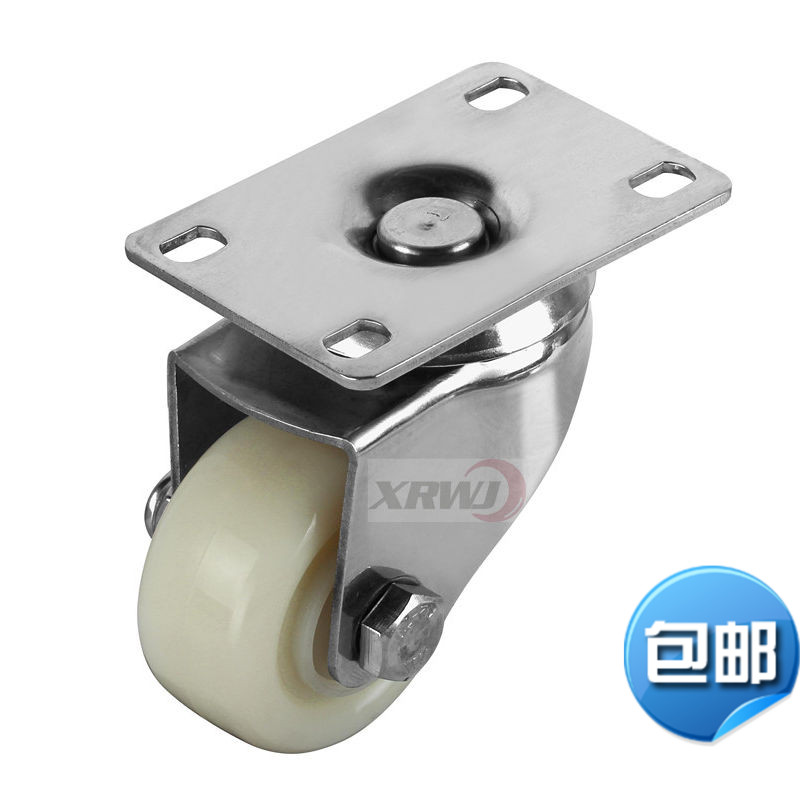 Stainless steel caster wheel/4-inch nylon casters 2/304 stainless steel 50mm/push the wheel /Furniture rust round