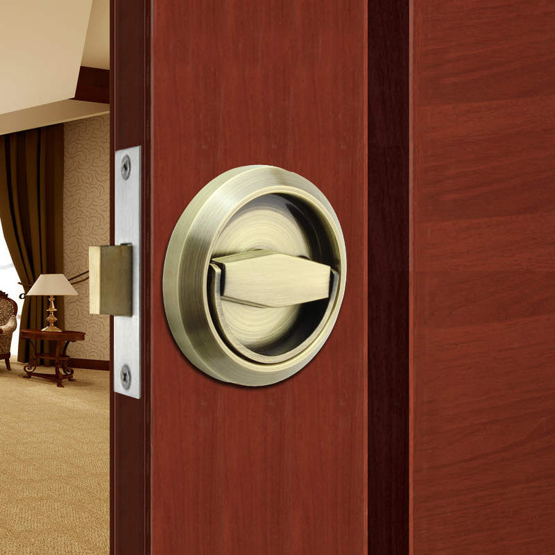 Stainless steel door stealth/invisible lock/pull ring lock/single lock/background door/dark locks /Bronze