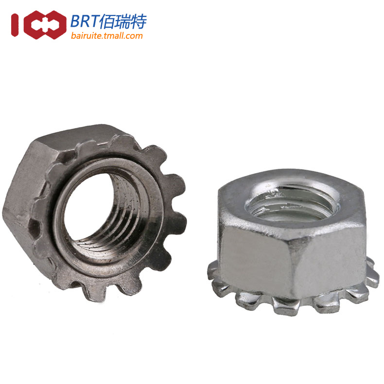 Stainless steel k type more than 304 carbon steel toothed nut nut cap nut nut nut m3-m10 tooth cap nut nut nut k type