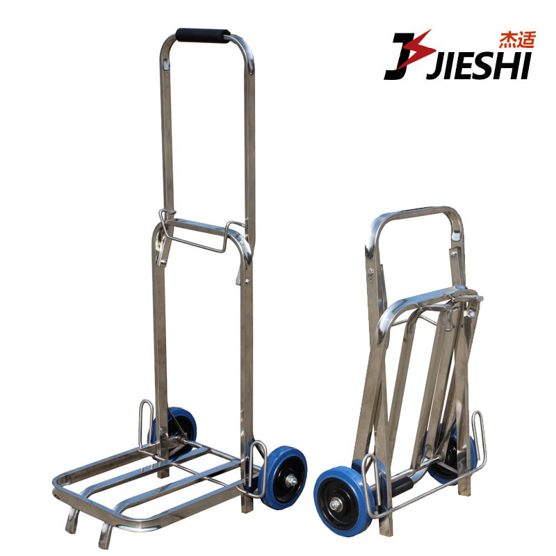 Stainless steel small pull a cart shopping cart climbing stairs folding portable hand car trailer line li Trolley car trolley