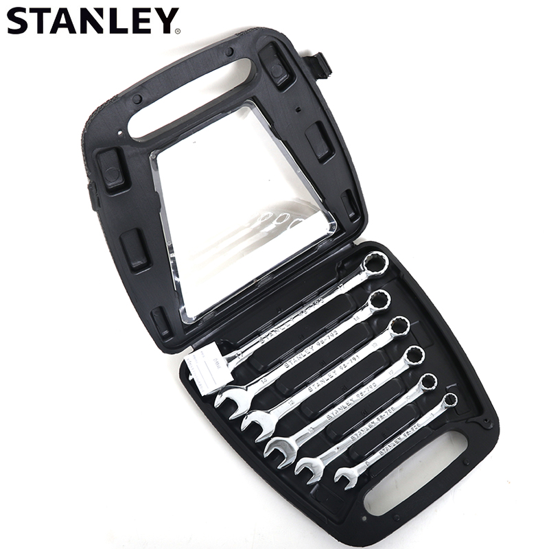 Stanley/stanley 6 pieces of fine polishing standard combination wrench set hardware kit TS121-23C