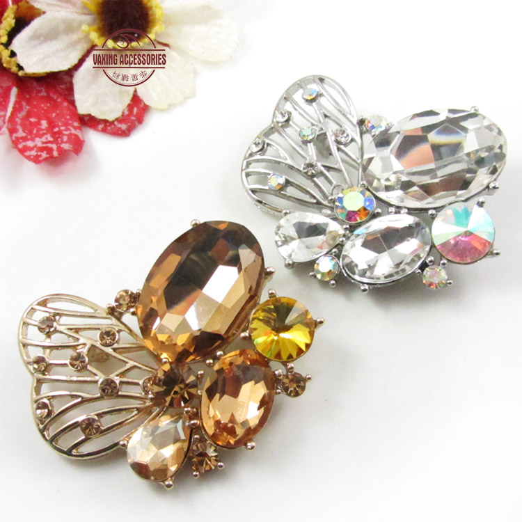 Star button exquisite korean female fashion rhinestone brooch crystal brooch pin brooch upscale clothing accessories with ornaments
