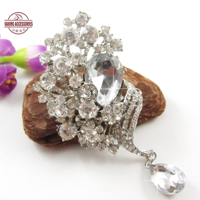 [Star] new accessories beautiful glass rhinestone brooch pin brooch jewelry brooch fur fur
