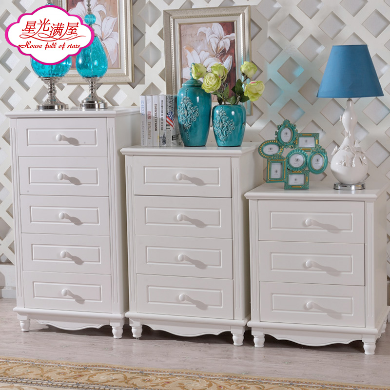 Stars full house idyllic wood three four five doo doo cabinet combination of white paint bucket cabinet drawer storage cabinets lockers sub specials