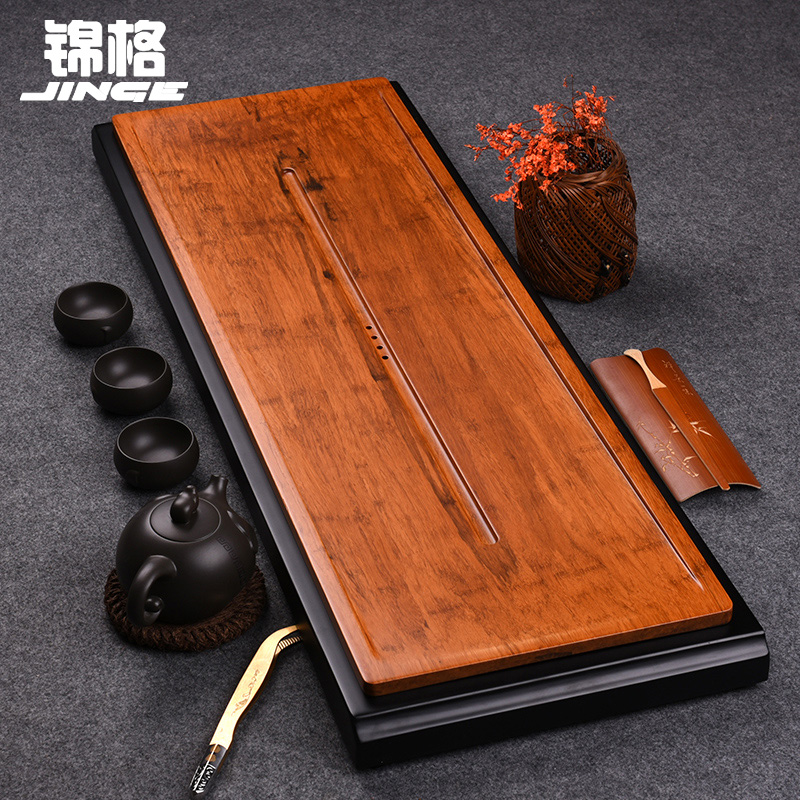 Stayed inblock heavy bamboo tea tray drain style kung fu tea wood tea sea bamboo tea sets tea tray specials