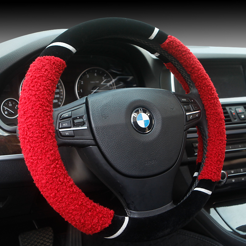 Steering wheel cover steering wheel cover applicable chang'an cs75 cs35 yat move benben mini cheung yuet v7 cow plush car to cover winter