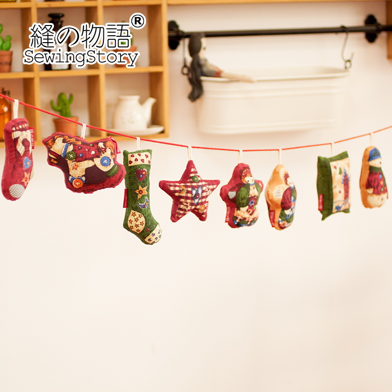 Story seam christmas series-mobile phone accessories bag doll ornaments christmas ornaments diy fabric products