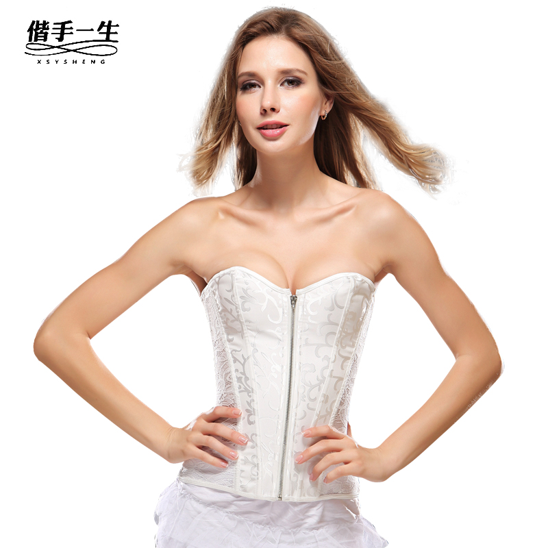 fa83dd1a98d70 Get Quotations · Strapless wedding dress body sculpting underwear sexy  female breast care abdomen waist closure bride palace corset
