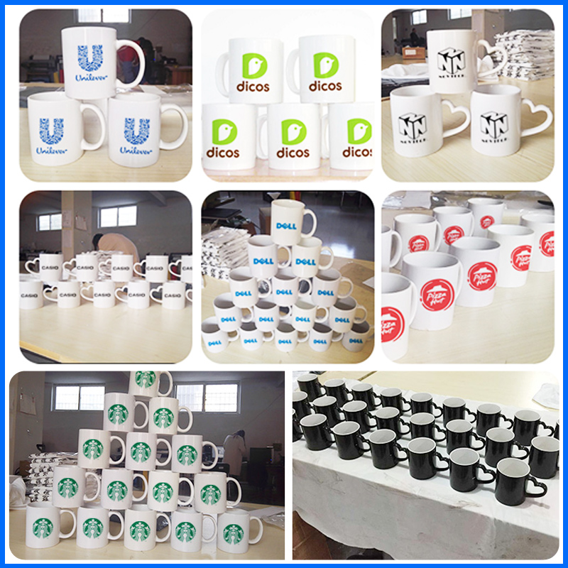 Strengthen porcelain mug cup diy custom advertising cup logo printed photo ceramic cup gathering to commemorate the gift