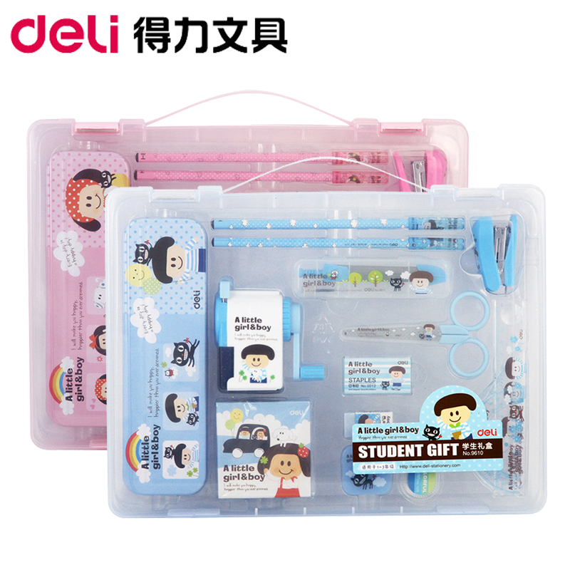 Student stationery supplies pupils prizes for children gift set deli korea creative cute cartoon 9610