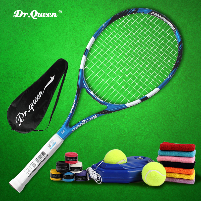 Students single practice beginner tennis racket genuine special carbon fiber composite single practice suit national mail