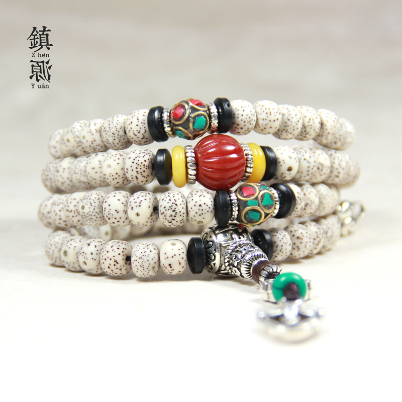 Study on beneficiation accoré¢xingyue pu tizi rosary bracelets 108 high density dry grinding along the white a + bracelet for men and women of lunar January