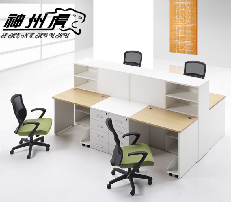 Stylish simplicity staff office furniture 4 digit combination wall panels shanghai office furniture desk staff hot