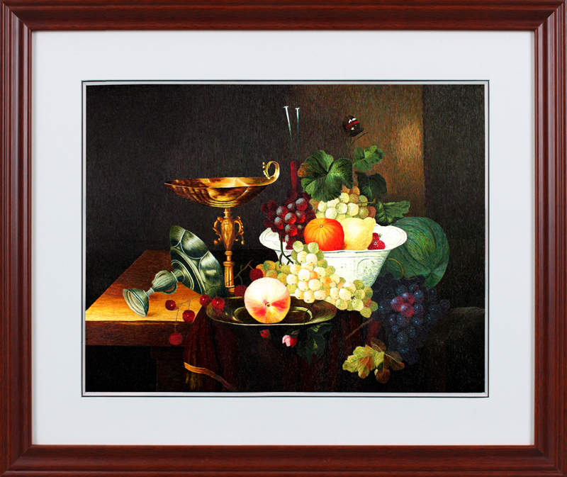 Su street family handmade embroidery finished embroidery embroidery decorative painting still life of fruit platter non cross