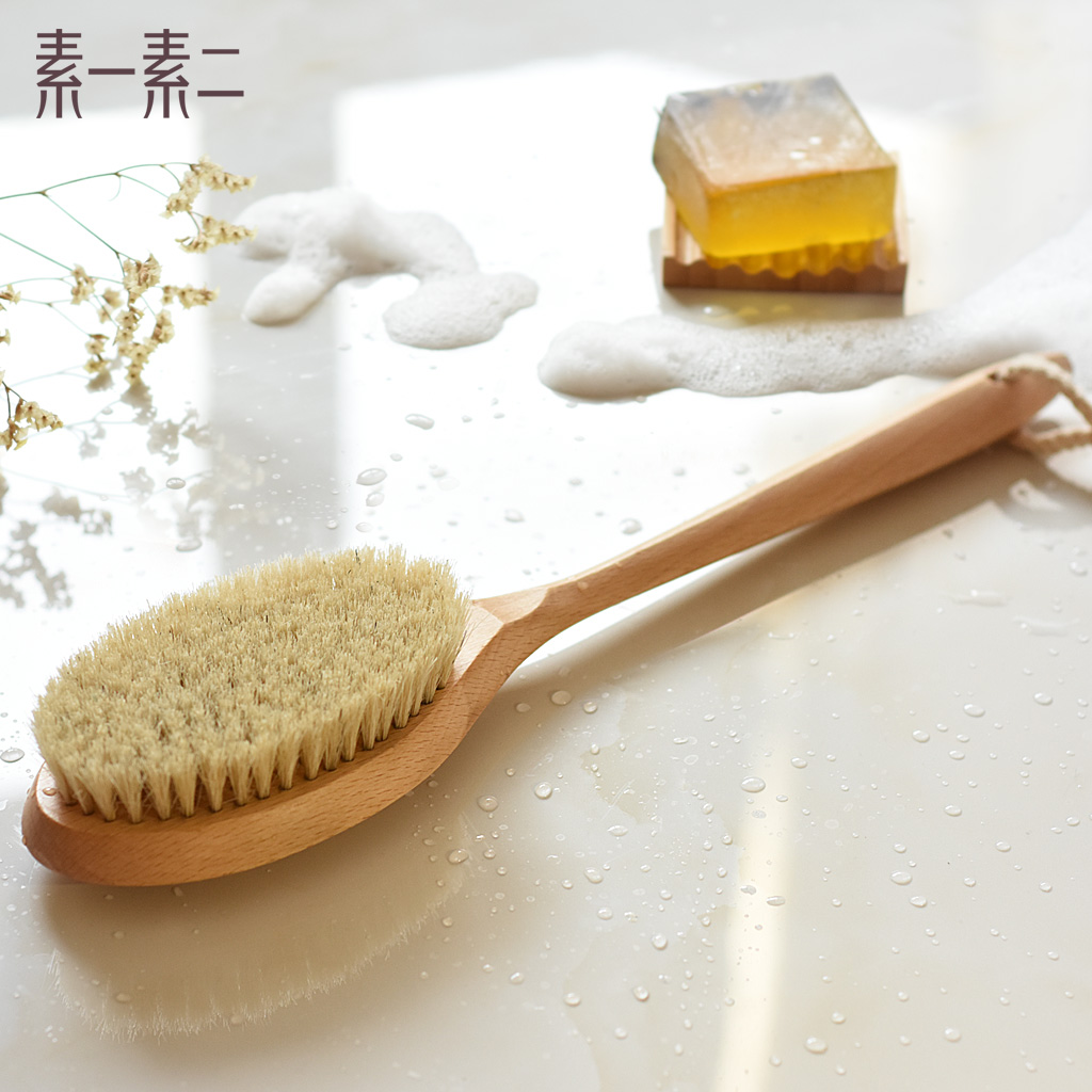 Su su a two beech skillet soft bristle brush bath brush chopping cuozao cabei bath brush bristle brush brush brush Cuozao towel