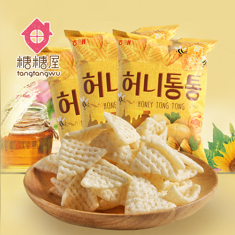 Sugar sugar house korea imported snacks too honey butter 65g * 3 bags of potato wedges dse-25 not fried