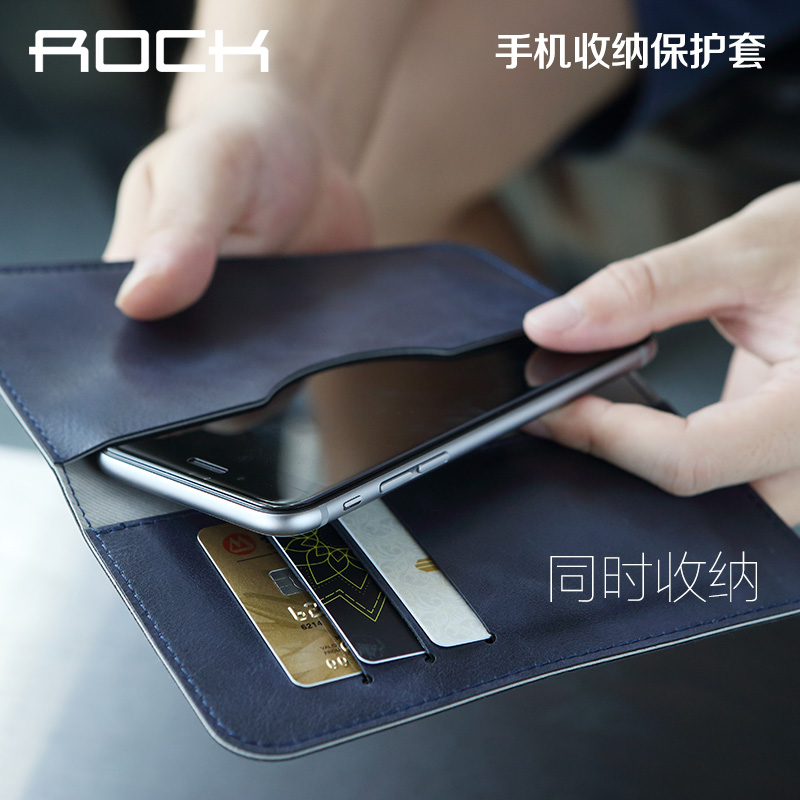 Suitable for rock thin leather protective sleeve wallet apple iphone6s 4.7 inch pouch mobile phone shell