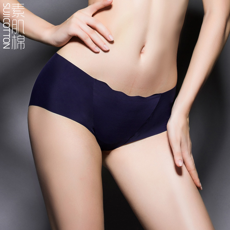 Suji cotton low waist underwear hollow genuine new free shipping luxury sexy bud silk pants thin section 2015 summer girls