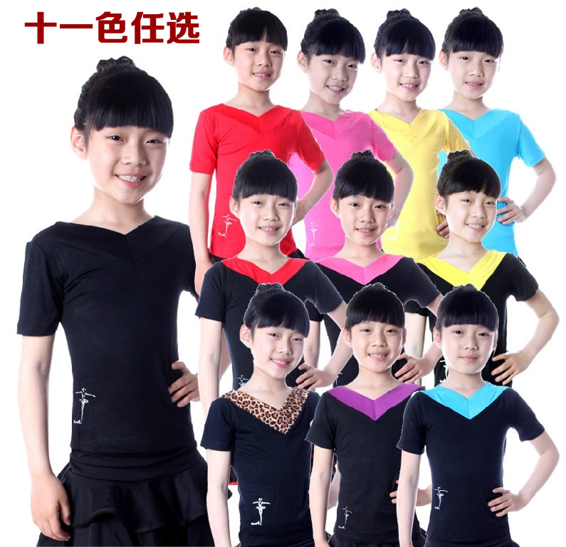 Summer clothes infant clothes and children's dance tops latin dance clothes children latin dance dress girls dance clothes short sleeve