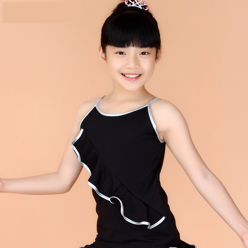 Summer clothes infant clothes and children's dance tops latin dance clothes children latin dance dress girls dance clothes sling
