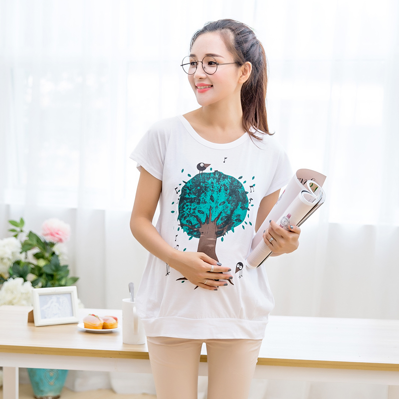 Summer fashion maternity korean pregnant women pregnant women t-shirt t-shirt for pregnant women