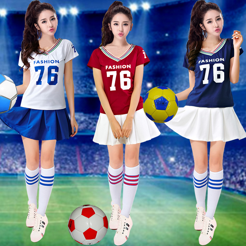 Summer football baby cheerleader cheerleading cheerleading costume adult students european cup dance performance clothing