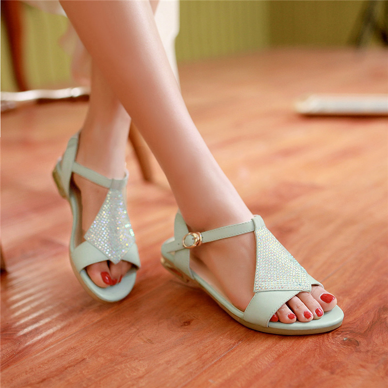 ae312c1c7d5e Get Quotations · Summer girls junior high school students aged girls wild  female big boy shoes flat with flat