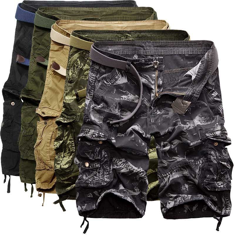 Summer men's shorts loose camouflage pants pocket more men pants thin section 2016 pants five pants big pants