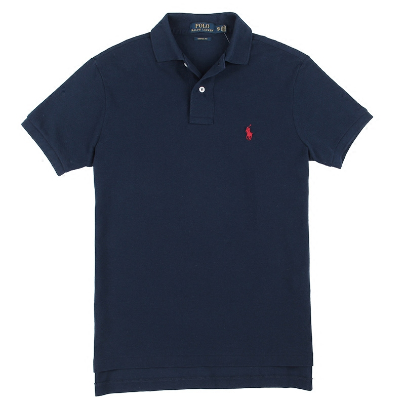 Summer new ralph lauren ralph lauren classic men's business casual solid color slim short sleeve polo shirt