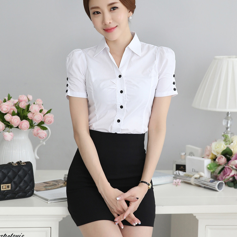 c20ddba15b58 Get Quotations · Summer new women s wear skirt suits ms. career suits shirt  with short sleeves perfect interview