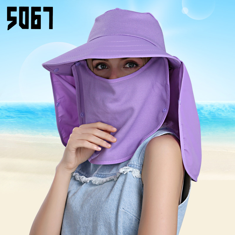 Summer sun hat cycling electric car sun visor hat uv sun hat female summer large brimmed sun hat covering her face youth