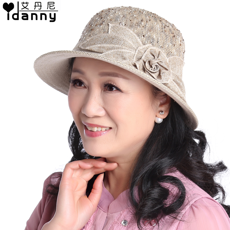 Sun hat lady hat sun hat in summer and autumn middle-aged middle-aged women mom hat hat bucket hats fashion hats