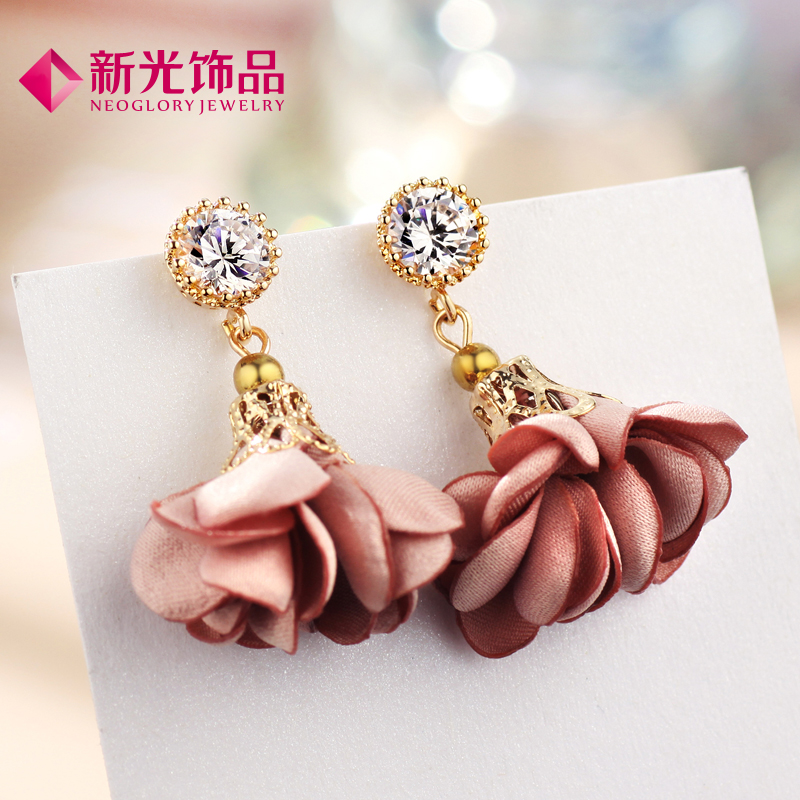 Sunbeam jewelry korean flower dreamspell environmentally friendly alloy earrings female small fresh wild fashion earrings hypoallergenic earrings