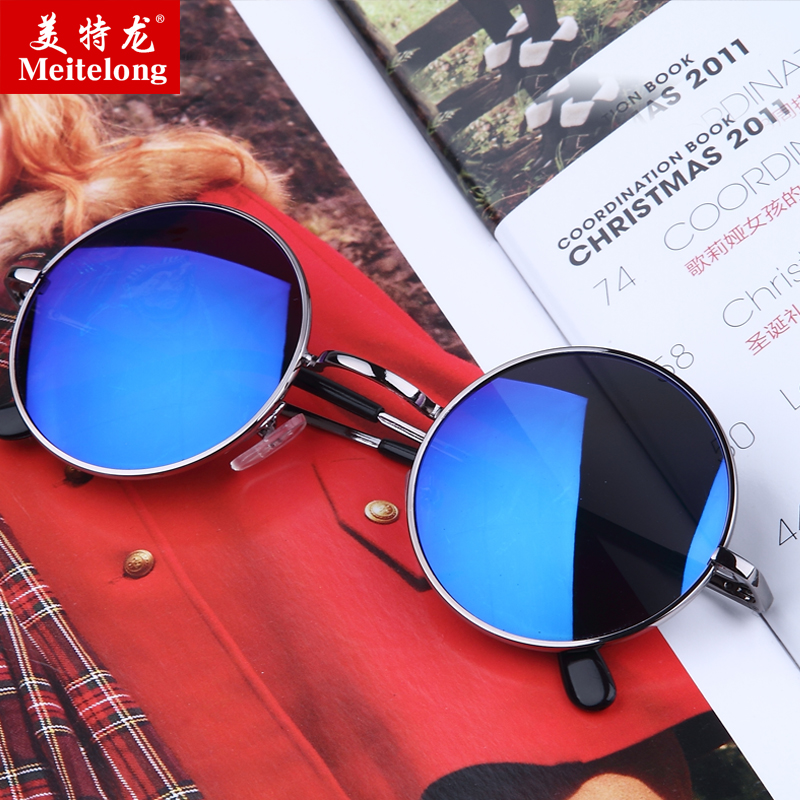 Sunglasses round prince edward mirror sunglasses men sunglasses 2016 new sunglasses glasses retro sunglasses female influx of korean round eyes