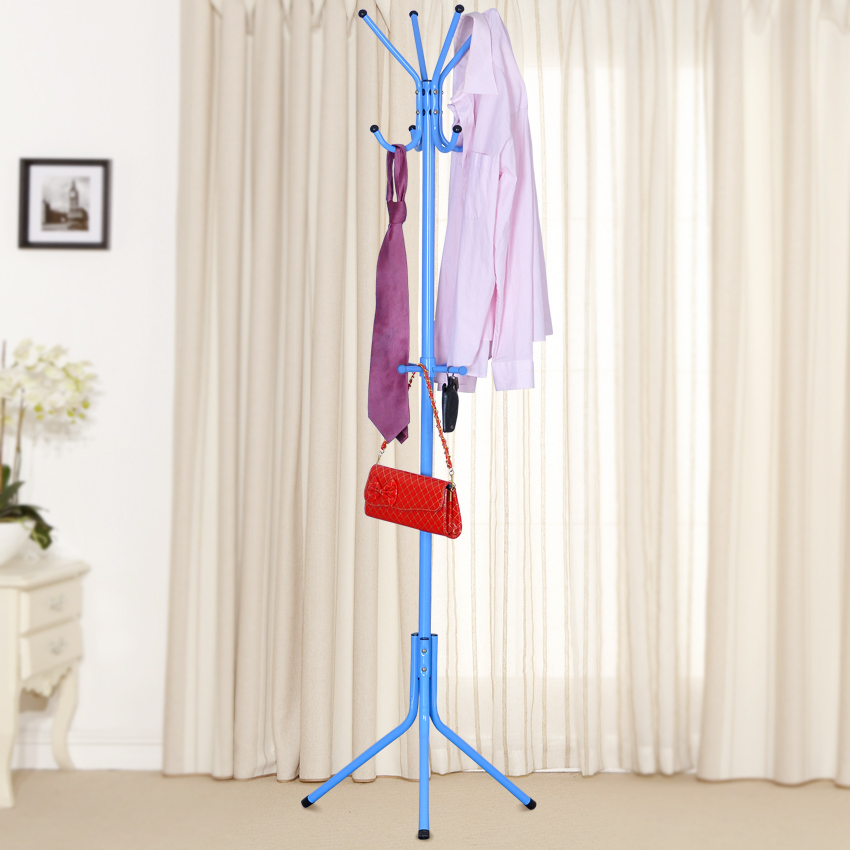 Suo ernuo upgrade strengthening practical style wrought iron floor coat rack hanger fashion green hangers