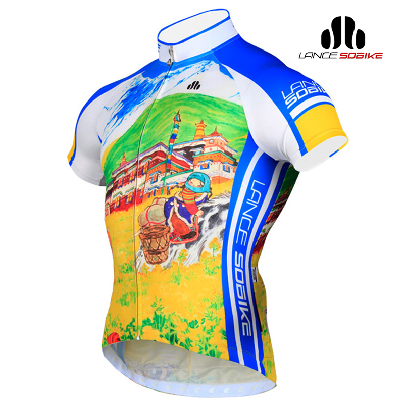 Super league jersey wicking cycling road bike mountain bike short sleeve t-shirt spring and summer men clothing potala