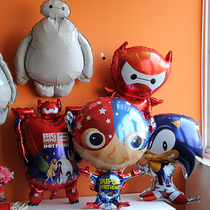 Super marines sonic cartoon aluminum foil balloons party decoration balloon captain america superman series