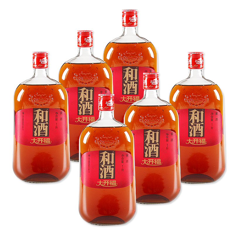 [Supermarket] lynx and big kaifu three years chen wine wine 1l * 6 bottles gift box shanghai Wine