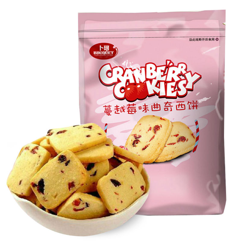 [Supermarket] lynx boke cranberry cookies 200g/bag making casual snack cakes and biscuits